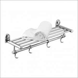 Kamal Radisson Brass Towel Rack with Free Tap Cleaner, ACC-1266