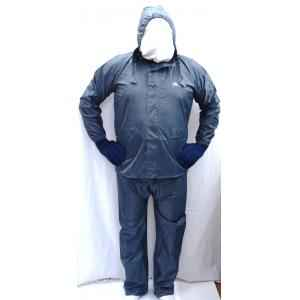 Gripwell Free Size Gray Perfect Raincoat with Taping