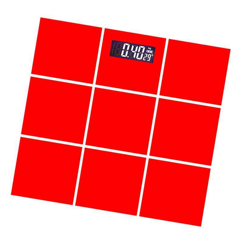 Virgo Digital Personal Weight Glass Body Weighing Scale, v-Eps-2009red