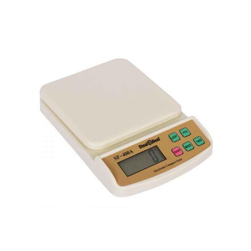 Stealodeal 10kg White Digital Kitchen Weighing Machine, SF-400A