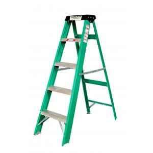 Youngman 5 Step 150kg Capacity Fiberglass Green Shockproof Ladder