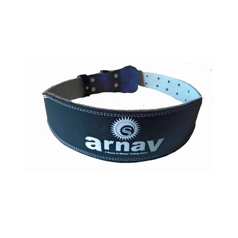 Arnav Weight Lifting Leather Gym Belt, OSB-700702S, Size: S