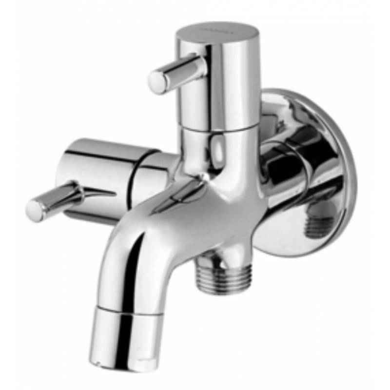 Snowbell Flora Brass Chrome Plated 2 in 1 Bibcock