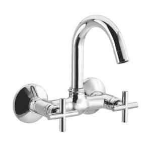Cera Delta Quarter Turn CQ119 Wall Mounted Sink Mixer