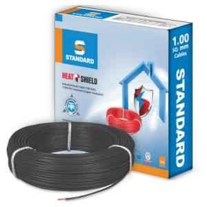 Standard 2.5 Sq mm 90m Black PVC FR Wire, WSFFDNKA12X5