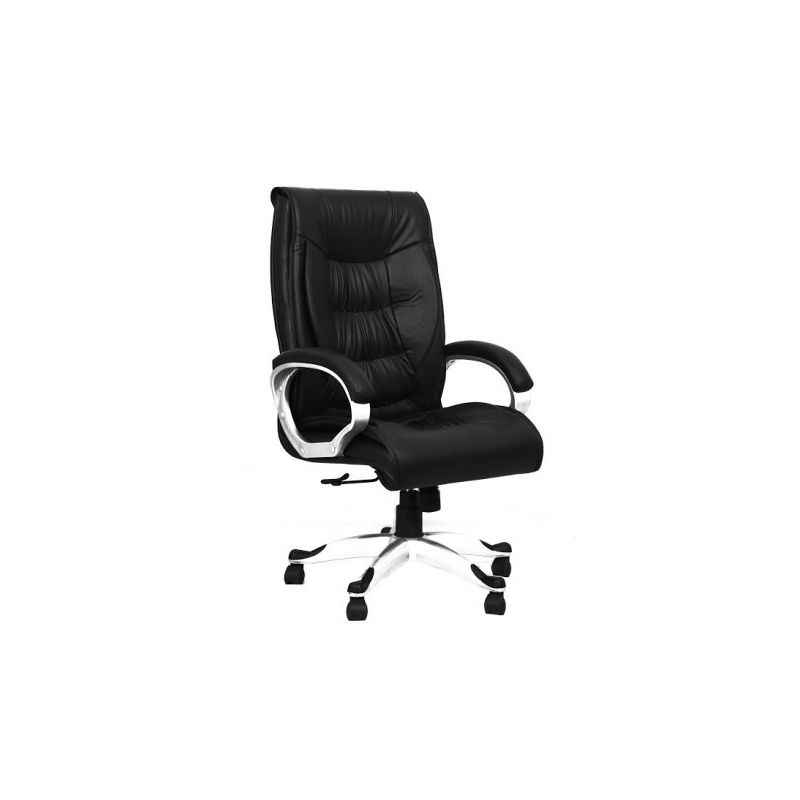 R P Enterprises Fantasia High Back Black Leatherette Office Chair, Dimensions: 60x60x80 cm