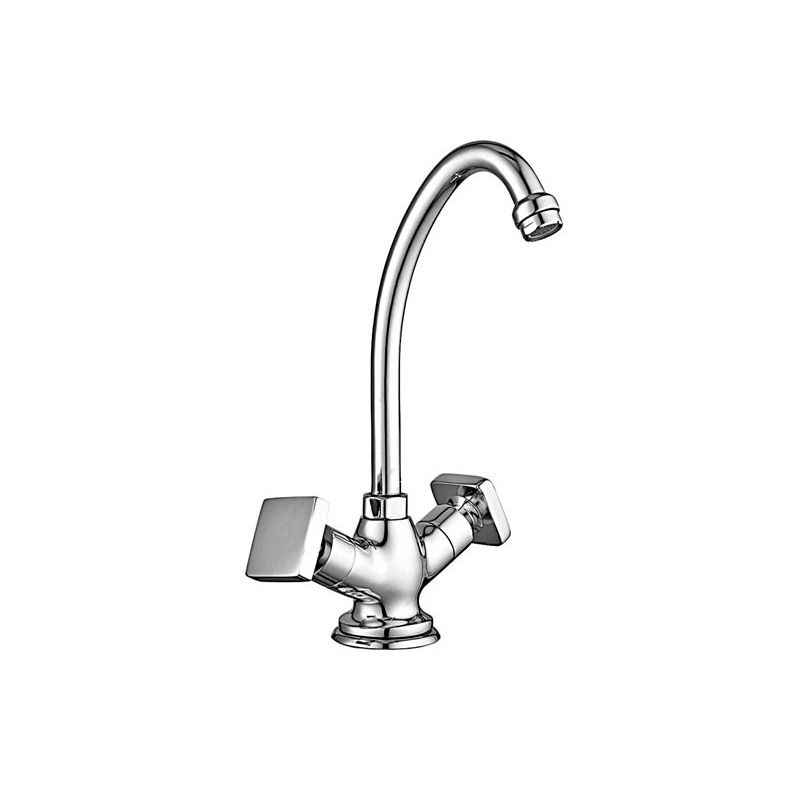 Marc Concor Sink Mixer Table Mounted (Single Hole) with Braided Hoses, MCO-1390