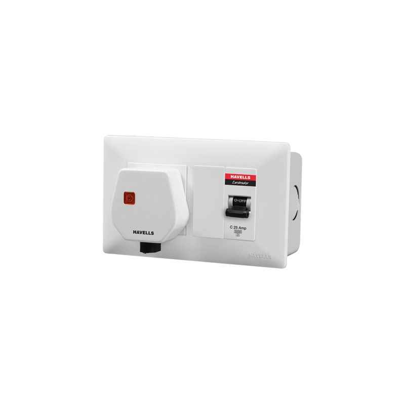 Havells DBOXx MCB Protected Socket (Without Enclosure)-DHDWCM30251020