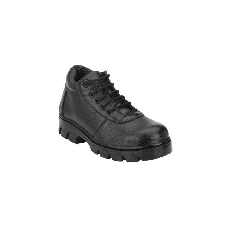 Rigau 1084 Black Leather Steel Toe Safety Shoes, Size: 10