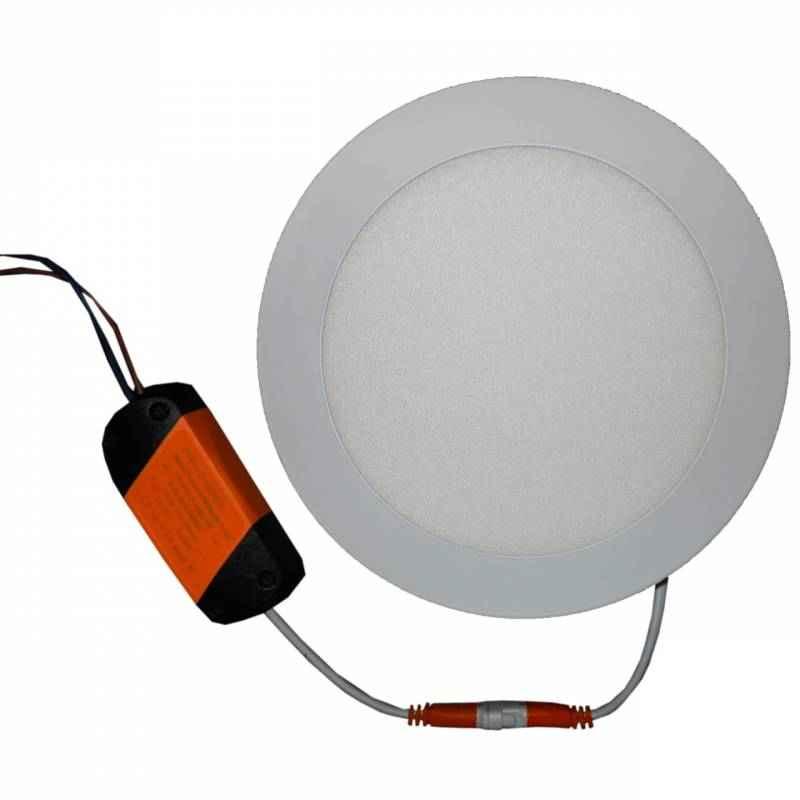 LumoGen 12W Round Cool White Slim LED Panel Light