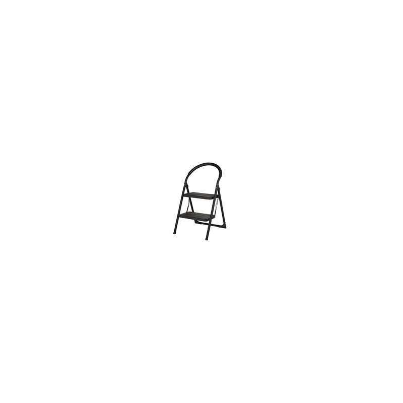 Bellstone 2 Step Black Home Ladder, Step Length: 9 Inch