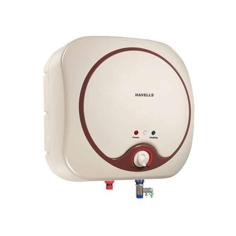 Havells 10 Litre SWH SP Ivory & Brown Quatro Storage Water Heater, GHWEQTTIB010
