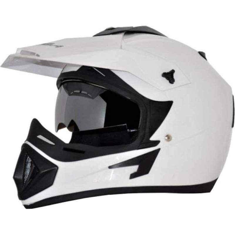 Vega Off Road Motocross White Helmet, Size (Large, 600 mm)