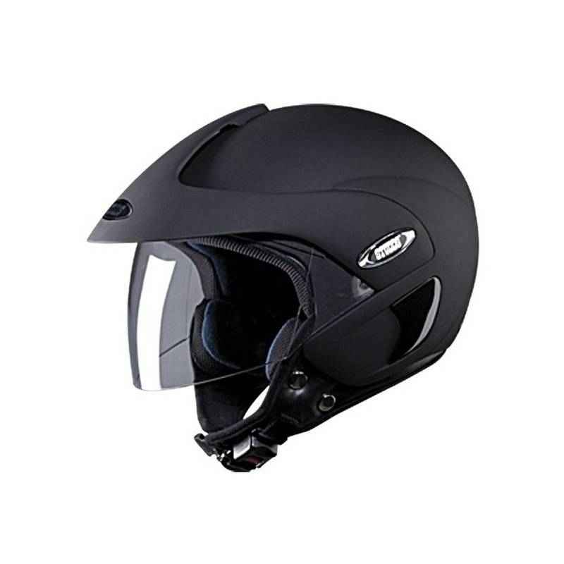 Studds Marshall Matte Black Open Face Helmet, Size (Large, 580 mm)