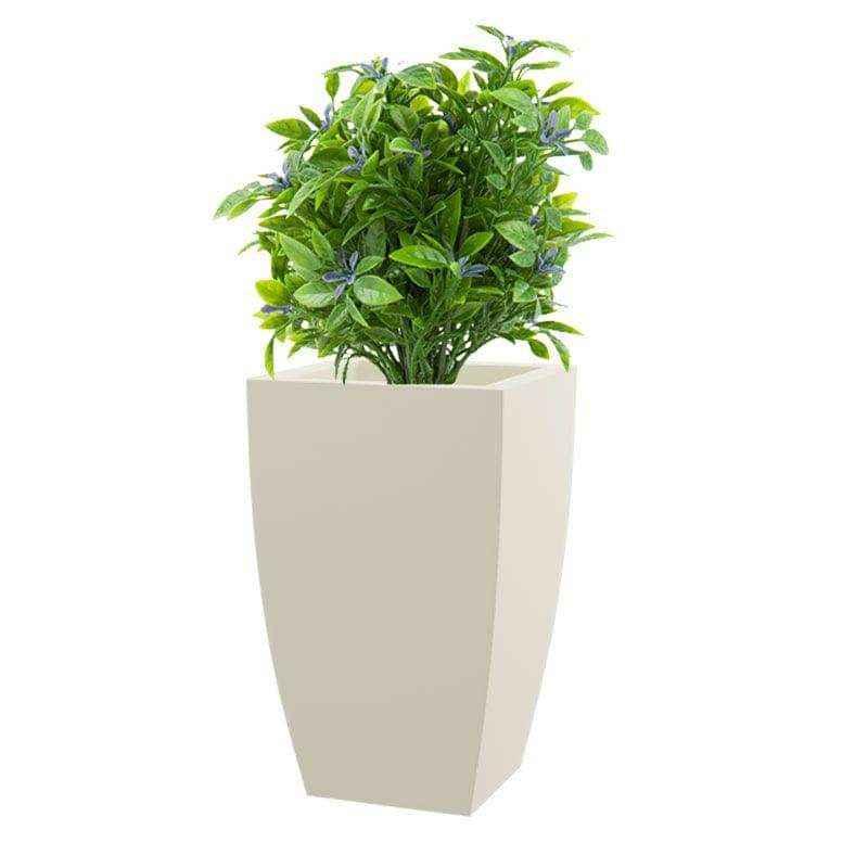 Yuccabe Italia 18 Inch Square Pleasant White Hybrid Polymer Planter, TK1812