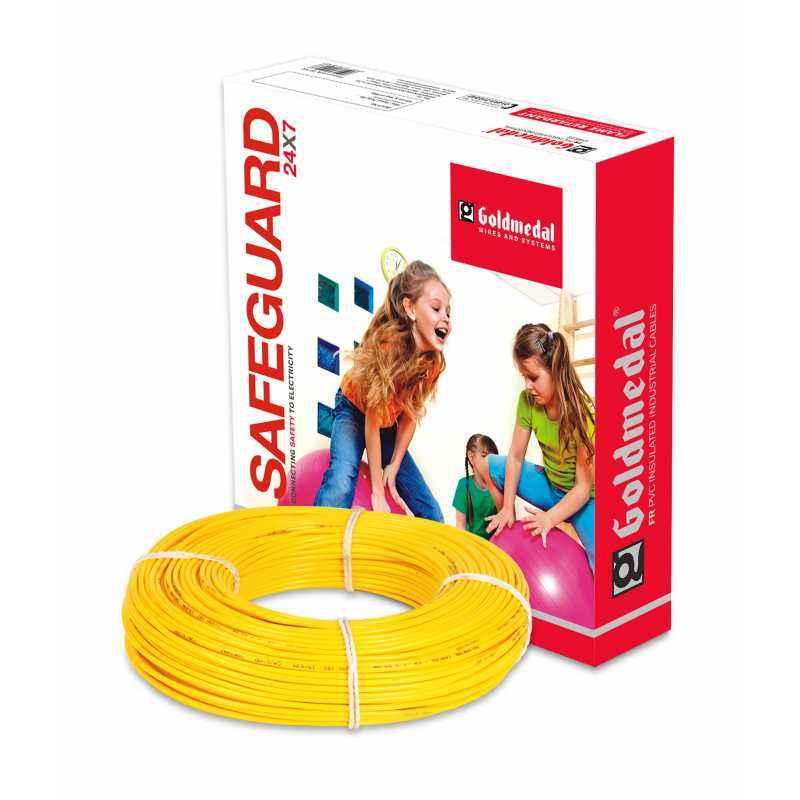 Goldmedal 90m 4 Sq mm Yellow FR PVC Wire