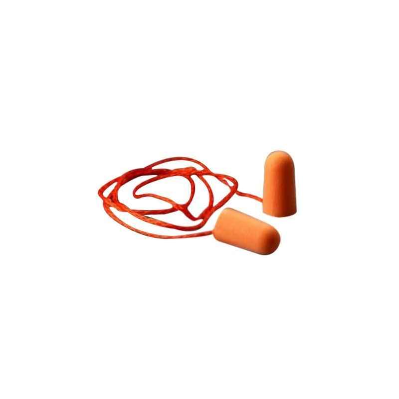 3M 29dB Corded Foam Orange Ear Plugs, 1110 (Pack of 10)