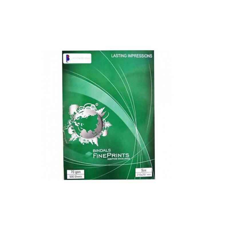 Bindal 70 GSM 500 Sheets A4 Size Paper (Pack of 10)