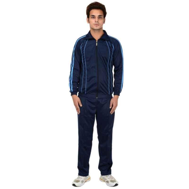 VDG T014 Navy Blue Sportswear Tracksuit, Size: 38