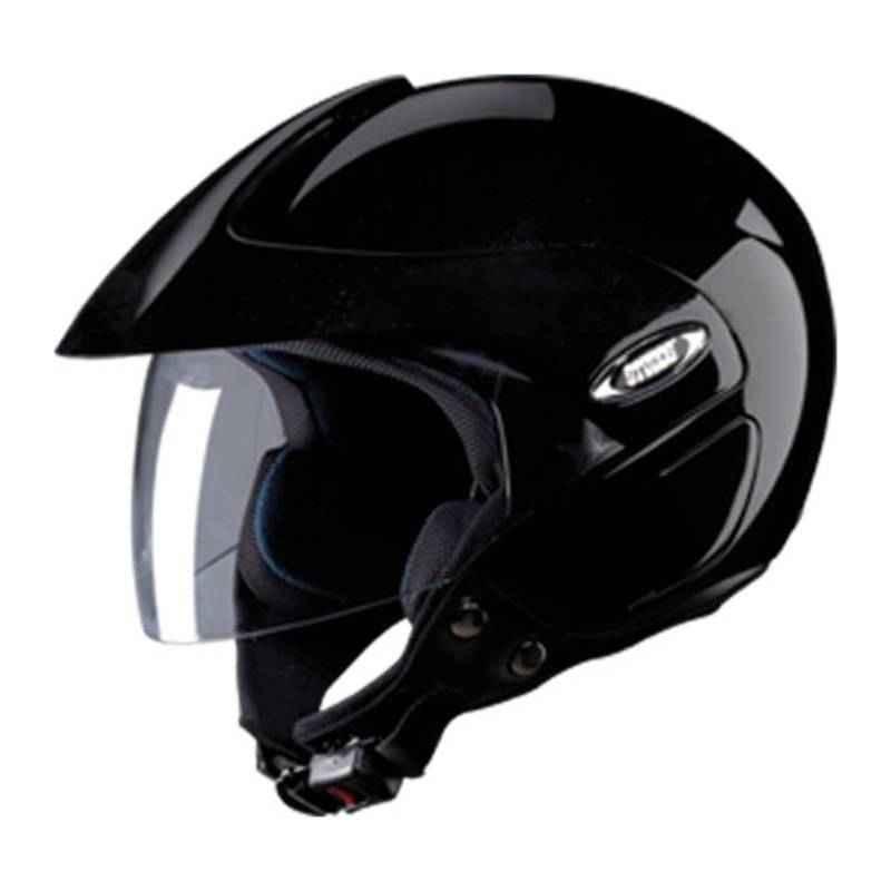 Studds Marshal Motorbike Black Half Face Helmet, Size (Large, 580 mm)