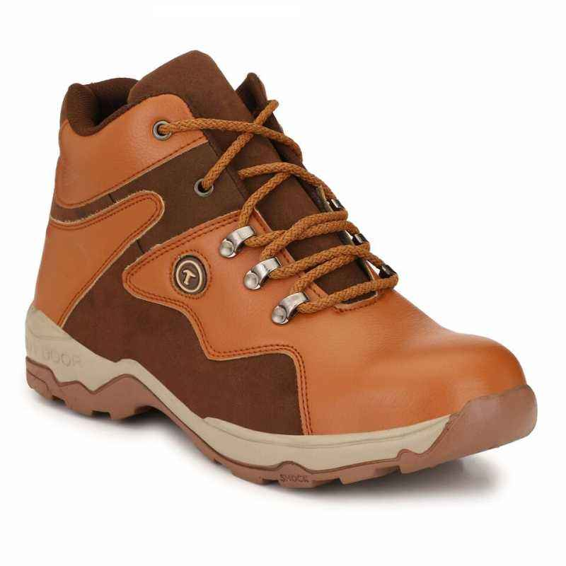 Timberwood TW24Tan Steel Toe Tan Safety Shoes, Size: 9