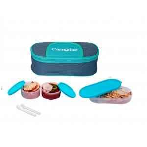 Carrolite 650ml Blue & Cyan Plastic Lunchbox, Syan_P-19