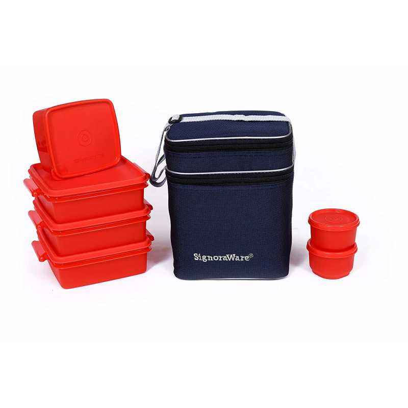 Signoraware Pink Family Pack Lunch with Bag, 504