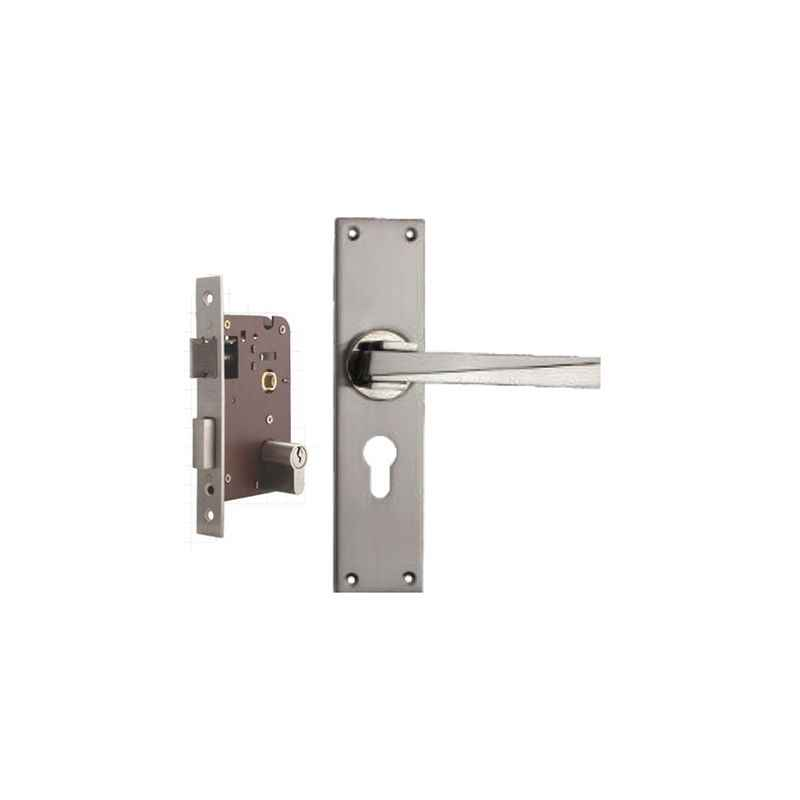 Plaza Camry Stainless Steel Finish Handle with 200mm Pin Cylinder Mortice Lock & 3 Keys