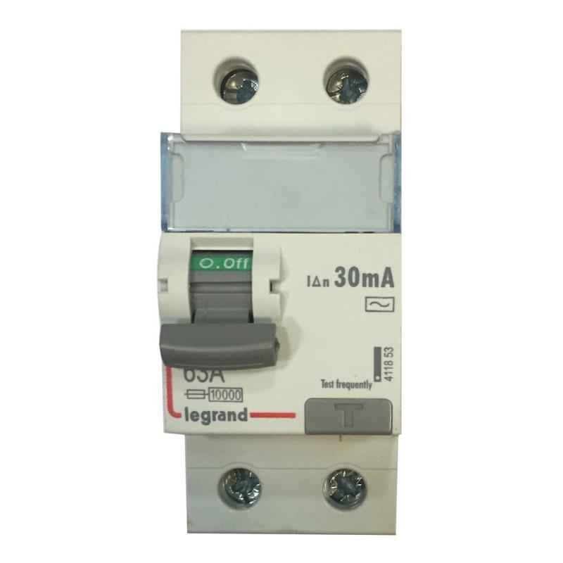 Legrand 63A DX³ 2 Pole RCCBs for AC Applications, 4118 53