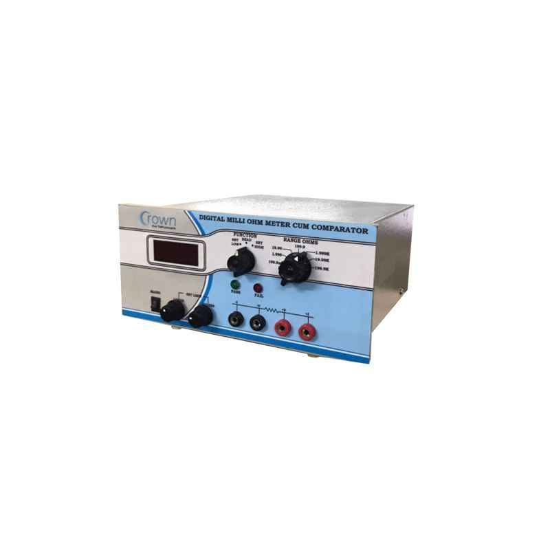 Crown 3-1/2 Digit Digital Micro Ohm Meter Cum Comparator, CES 201C