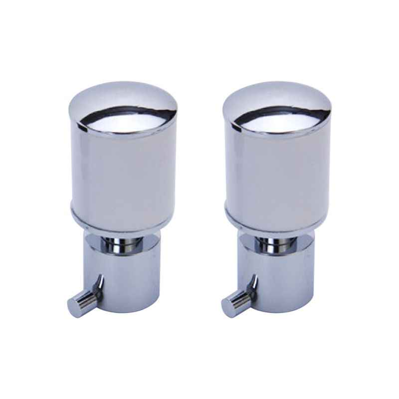 Smart Shophar 28mm SS White Silver Finial Ninja Curtain Bracket Set, 64805-SCB-WS