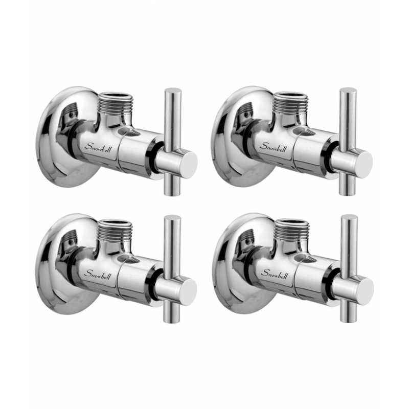 Snowbell Tarim Brass Angle Faucet (Pack of 4)