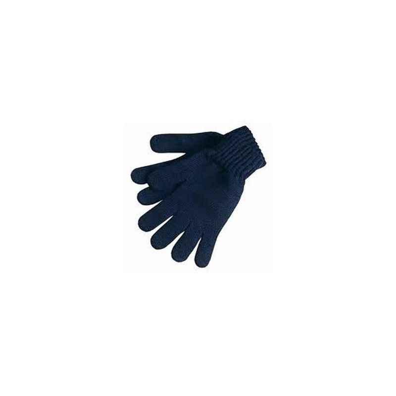 SRTL 80 g Blue Cotton Knitted Hand Gloves (Pack of 100)
