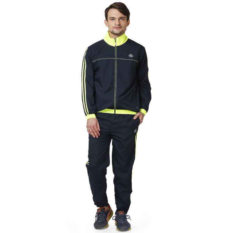 Abloom 113 Navy Blue & Parrot Green Tracksuit, Size: L