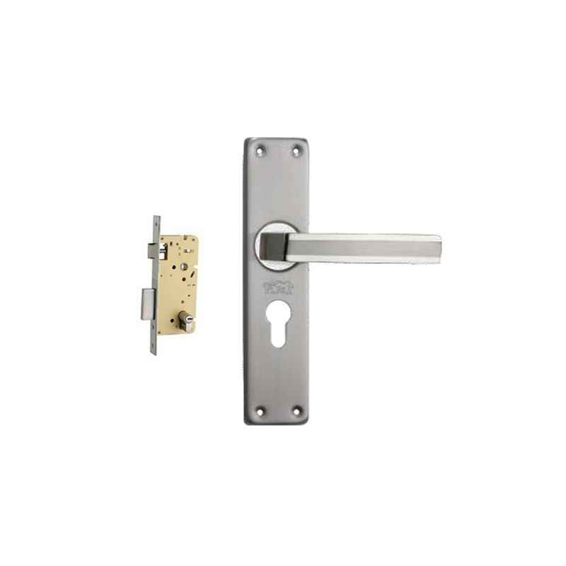 Plaza Amaze Stainless Steel Finish Handle with 250mm Pin Cylinder Mortice Lock & 3 Keys