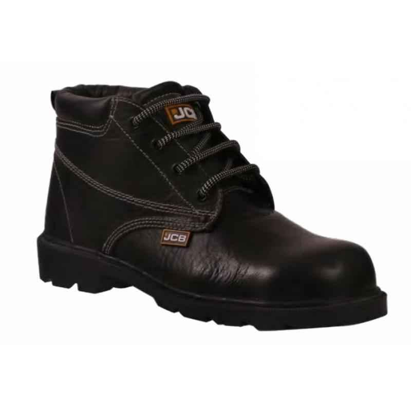 JCB Heatmax Black Steel Toe Safety Shoes, Size: 11