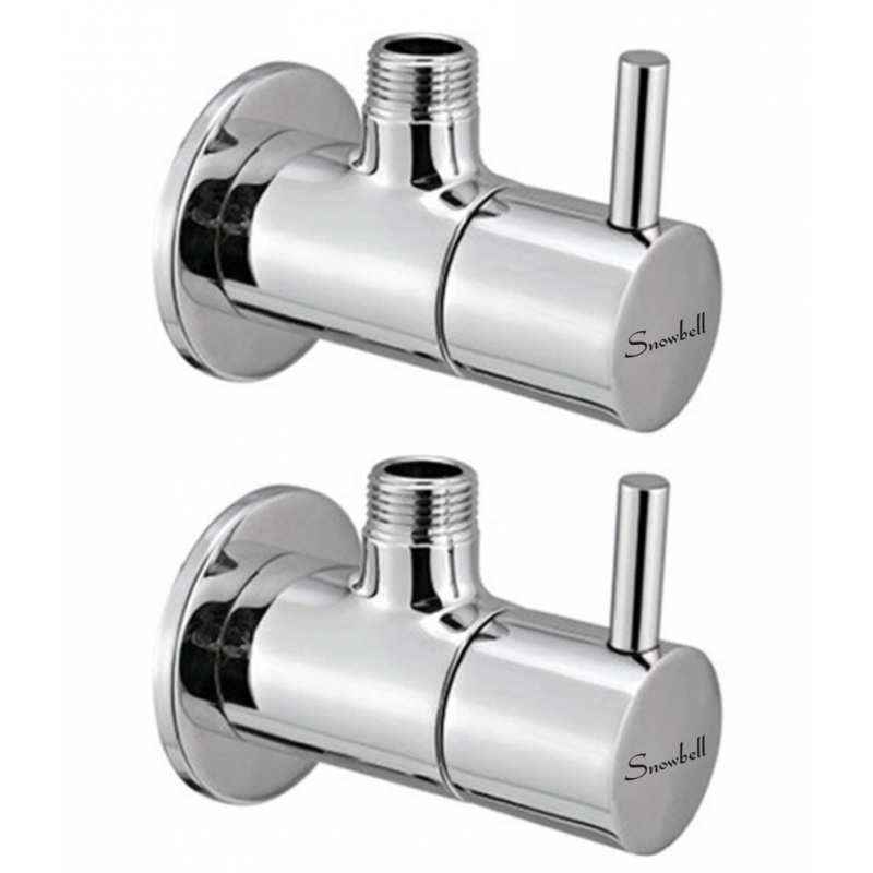 Snowbell Flora Brass Angle Faucet (Pack of 2)