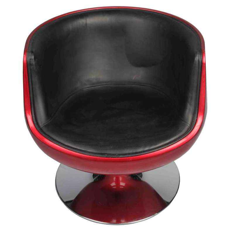 Ventura VF A 381 Red & Black Designer Chair with MS Chrome Base