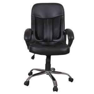 High Living Black Leatherette High Back Office Chair, HL_04