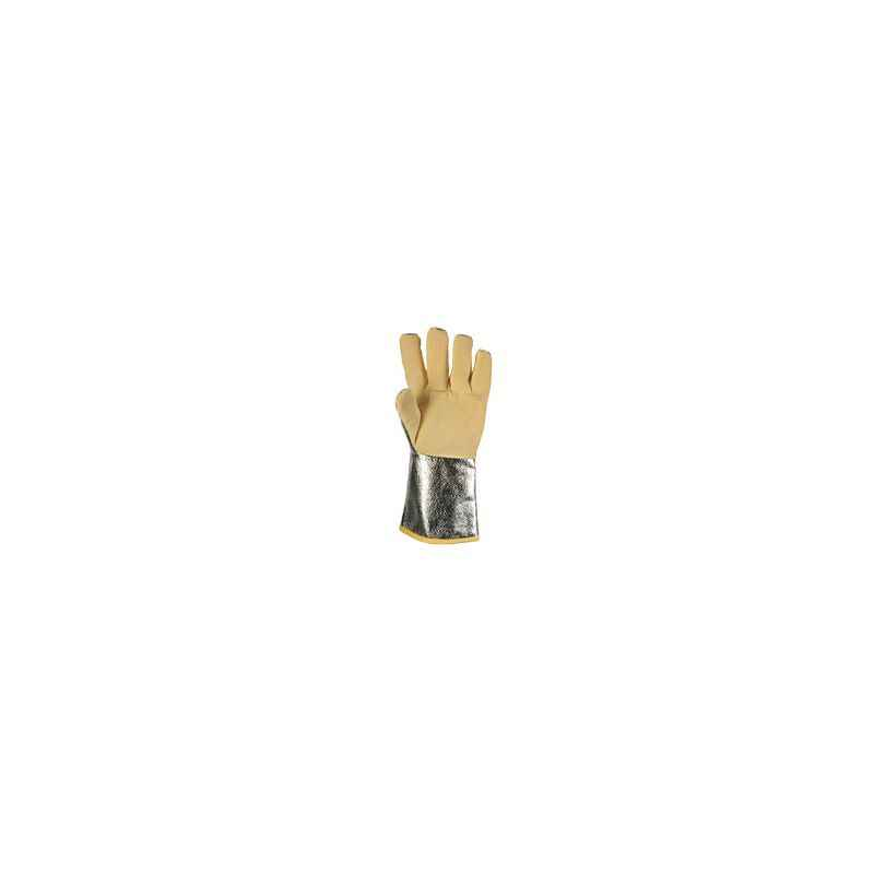 Atlas Woven Yellow Leather Palm Safety Gloves (Pack of 5)