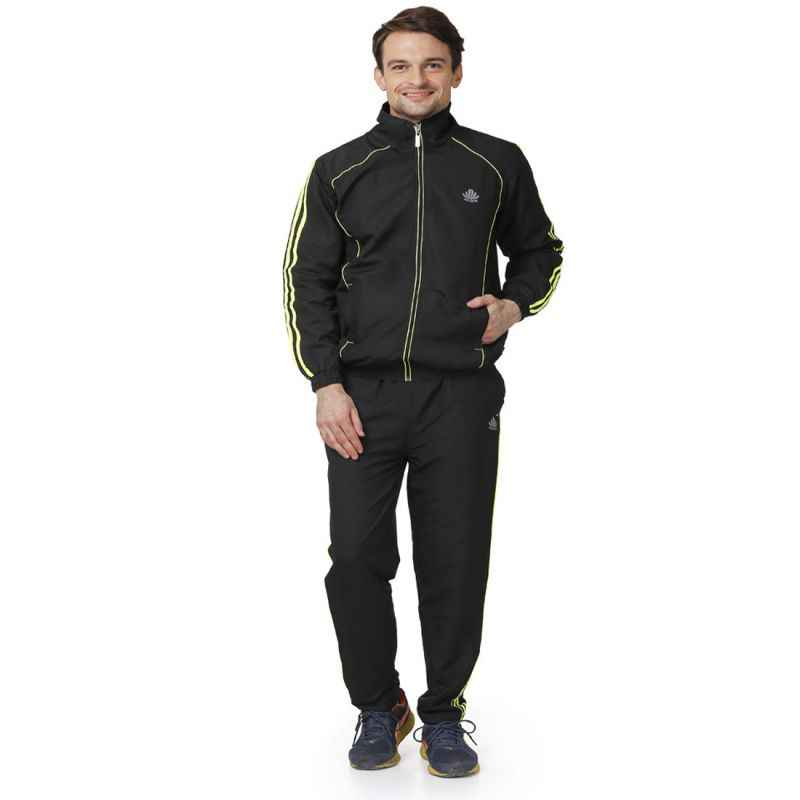 Abloom 125 Black & Parrot Green Tracksuit, Size: XL