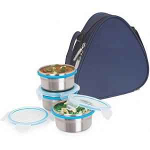 Topware Lock N Lock Lunch Box With 3 Containers