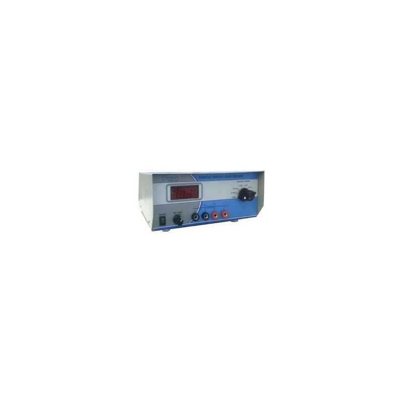 Crown 3-1/2 Digit Rotary Switch Digital Micro Ohm Meter, CES 53C