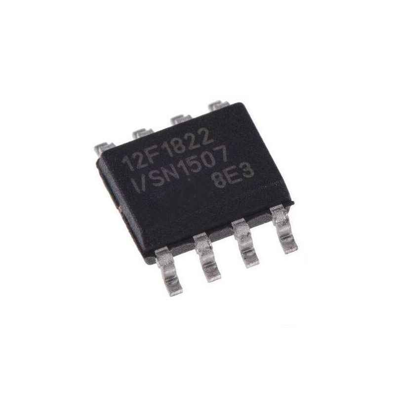 Microchip PIC 12F1822 I/SN 8 Pin Microcontroller Integrated Circuit (Pack of 2)