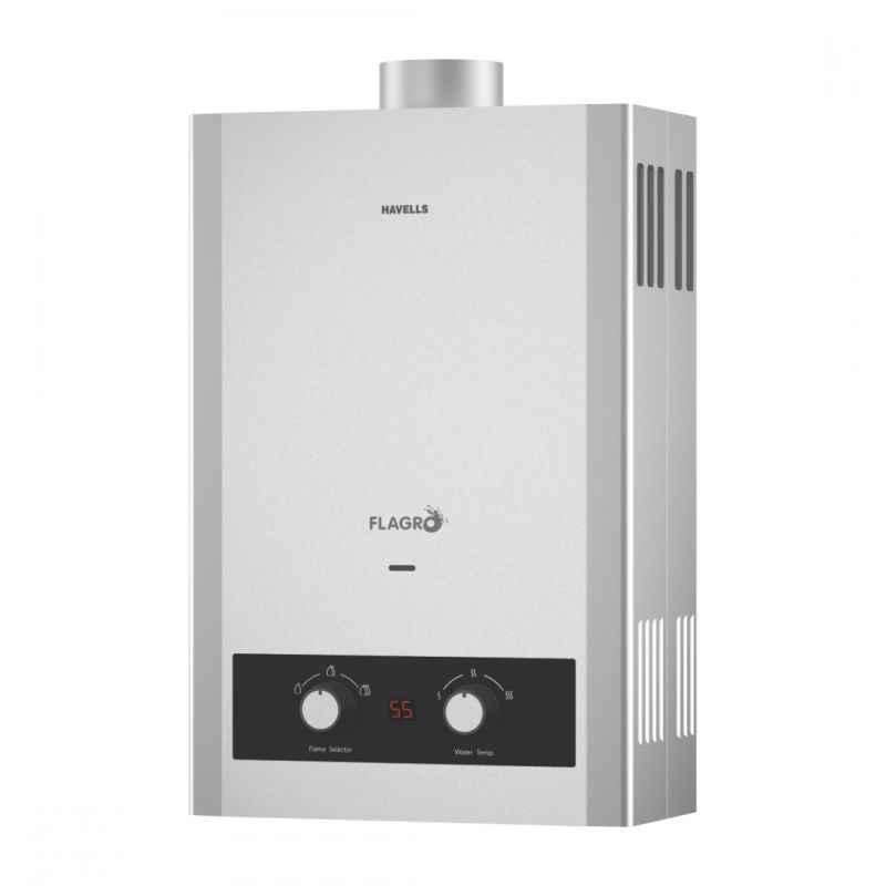 Havells Flagro 8 Litre 1.6kW Gas Water Heater, GHWGFLSSI008