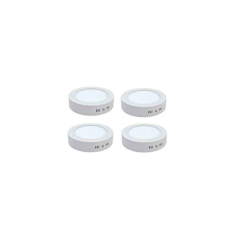 Riflection 6W White Round LED Surface Panel Light (Pack of 4)
