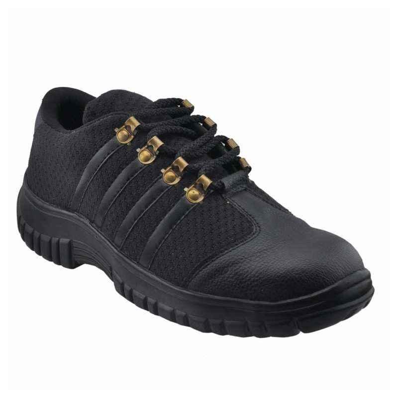 mBold 99 Steel Toe Black Safety Shoes, Size: 9