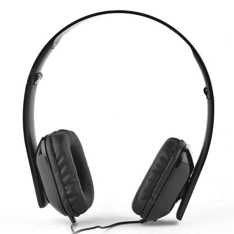 Ambrane Black Ultra Comfortable Wired Headphone with Mic, HP-11