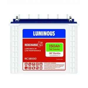 Luminous 150 Ah Red charge 18000 Tubular Battery
