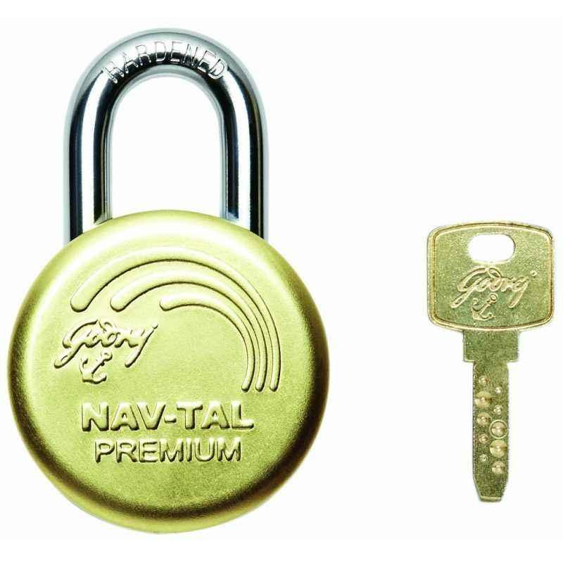 Godrej Navtal Premium Brass Padlock (3 Keys), 7792